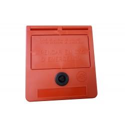 Emergency key box (catalonian text)