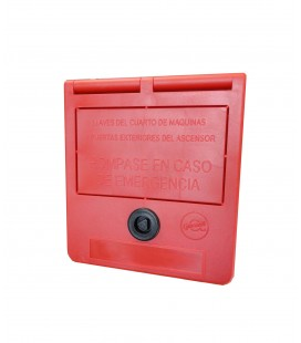 Key box for machine room (spanish text)