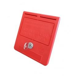Key box for machine room key switch (spanish text)